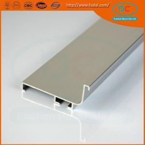 China 6063 Champage brush aluminum window profile, Matt aluminum window section, window profile wholesale