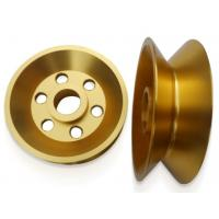 China 6061 Common Anodic Qxide Wire Guide Pulley , V-groove Aluminum Guide Pulleys wholesale