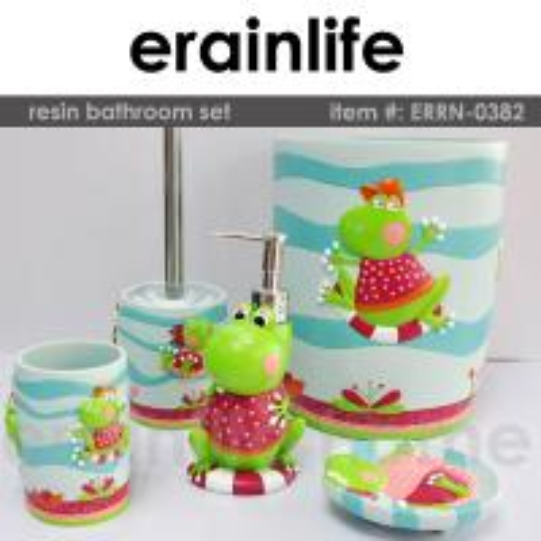 Kids polyresin bathroom accessories set of ec91117550 for Quality bathroom decor