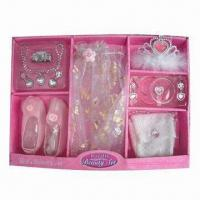 China Party Gift Set, Comes in Pink, Made of 100% Polyester wholesale