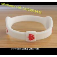 China Cheap Custom Silicone Bracelet with Debossed/Embossed/Color Filled/Printed Logo wholesale