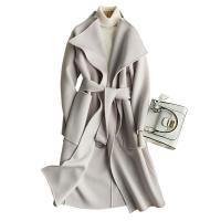 China Medium Double Faced Wool Blend Winter Coat For Women with Metal Circular Ring Belt wholesale