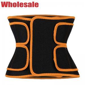 China Women'S Workout Sweat Belt Orange Velcro Button Gym Belt For Stomach wholesale