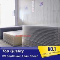 China Lenticular plastic PS 40LPI board 120x240cm, 2mm lenticular sheet for 3d and flip lenticular effect by injekt print wholesale