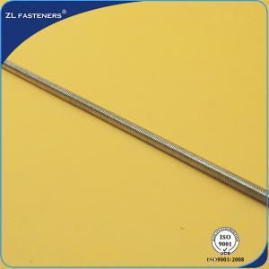 China Anti Corrosive Long Threaded Rod , High Strength Threaded Rod Zinc Plated wholesale