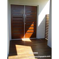 China Entrance / Balcony Timber Composite Doors , Timber Veneer Door on sale
