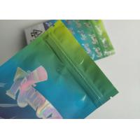 China Hologram Weed Stand Up Zipper Pouch Smell Proof Runtz Bag With Clearly Window wholesale