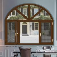 Quality Weatherstripping Arched Double Casement Windows With 5 mm Thickness Tempered Glass for sale
