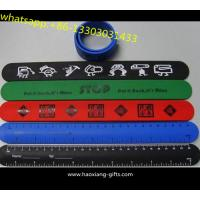 Quality Promotional exhibitions gifts Childrens Reflective Slap Wrap Wristbands for sale