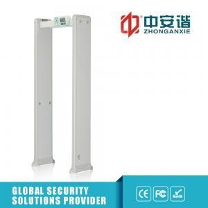 China White Color  Door Frame Metal Detector , Tnc Male Megaphone Metal Detector Gate on sale