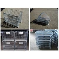 China galvanized stainless steel welded Wire Mesh Container for warehouse storage on sale
