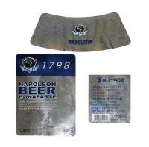 Quality Paper Printed Beer Bottles Liquor Bottle Labels Matte / Glossy Lamination for sale