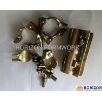 China Galvanized Yellow Scaffolding Accessories Couplers EN74 Dia 48.3x48.3mm BS Marked wholesale