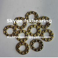Quality Certificated F3-6M , F4-10 Miniature Thrust Ball Bearings Steel Cage / Brass for sale