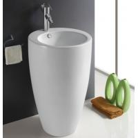 China Fixing to Wall with Back Bathroom Sanitary Ware Ceramic Standing Pedestal Sinks Wash Basin wholesale