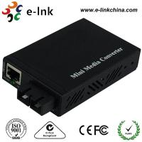 Quality E- Link Single Mode SC Fiber Ethernet Media Converter 10 / 100 / 1000Mbps for sale