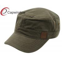 Quality Men Cotton Military Baseball Caps , Embroidery Metal Eyelets Male Army Cap for sale