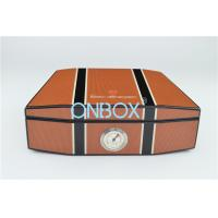China Cedar Wood Cigar Boxes In Luxury High Gloss Painting With Humidometer In Customized Pattern wholesale