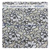 China Normal Dyeing Two Tone Cotton Nylon Lace Fabric Flower Fabric For Women Garment wholesale