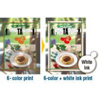 Print simultaneously using full color and white ink (SS21)