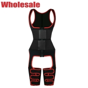China 9 Steel Bone Full Body Shaper High Waist Tummy And Thigh Shaper With Zipper wholesale