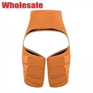 China Ergonomic Orange Thigh Shaper Sweat Thigh Trimmer With 3 Straps wholesale