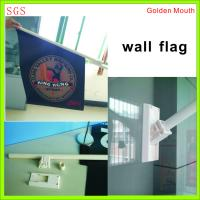 Quality Durable Double Sides Shop Front Flags With Bracket / Pvc Pole Full Color Printing for sale