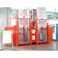 China Frequency Conversion Control System Construction Lift Rental , Double Cage Export Construction Hoist Hire wholesale