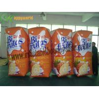 China OEM Colourful Inflatable Advertising Juice Box , Inflatable Coke Bottle 0.6mm PVC on sale