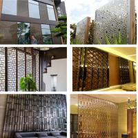 Metal Partition Walls : Decorative metal work for hotel screen partition