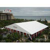 China Luxury Design White Color Outdoor Party Tents ,  A - Shape Aluminum Structure Wedding Tent wholesale