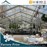 China 500 People Luxury Transparent Wedding Tent With Clear Roof 100% Waterproof wholesale