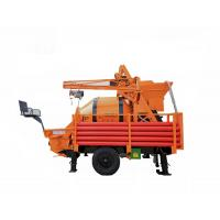 China Draggable Self Loading Concrete Mixer Alloy Eye Plate With Pump TWTG30 T8 on sale