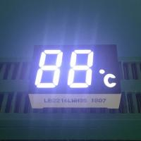 China 2 Digit 7 Segment LED Display Ultra Bright White LED Color 120-140mcd Luminous Intensity wholesale