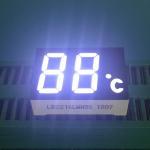 China 2 Digit 7 Segment LED Display Ultra Bright White LED Color 120-140mcd Luminous Intensity wholesale