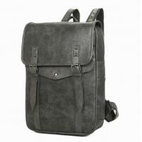China Multi Pocket Business Leather Backpack , Mens Leather Backpack With Durable Anti Oxidation Metals wholesale