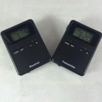 China Black 008A Mini Wireless Audio Tour Guide System Transmitter And Receiver wholesale