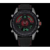 Quality Wholesale Fashion Men Genuine Leather Band Dual Time Chronograph Multifunction for sale