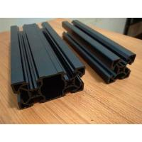 China Black Sandblasting Anodized Industrial Aluminium Section Profile For Assembly Line And Production Line wholesale