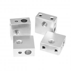 China 7.8g Aluminium MK7 MK8 3D Printer Heater Block 20mm*20mm*10mm wholesale