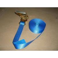 China Blue Label Self Tightening Ratchet Straps , Ratchet Straps With Safety Hooks wholesale