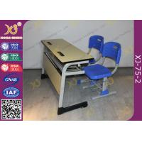 China Double Seats Two Seaters Student Desk And Chair Set For Junior School wholesale