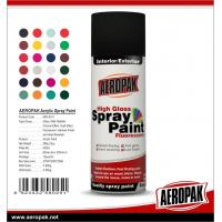 China Colorful with fast dry all purpose spray paint Acrylic Resin AEROPAK painting wholesale