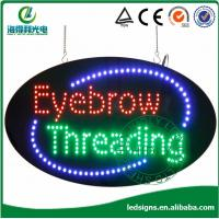 China HSE0001 15*27 oval eyebrow threading led sign board manufacturer on sale