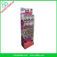 China Advertising Portable printed corrugated merchandise shelf pop&pos display for toys with hooks wholesale