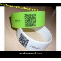 China China Regional Feature and Printed Technique road id qr code silicone bracelet wholesale