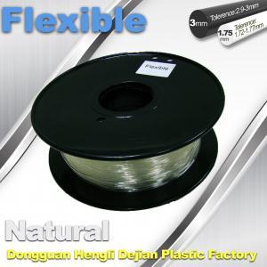 China Transparent Rubber Flexible 3D Printer Filament Consumables 1.75mm  / 3.0 mm wholesale