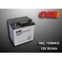 China 12V 28AH Gel Lead Acid Battery , EPS Vrla Rechargeable Battery Non Spillable wholesale