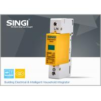 Yellow GNS1 1P Surge Protector Device FOR building power distribution box 10KA -