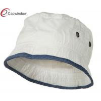 China White Navy Cotton Fisherman Bucket Hat Soft Light With Elastic Band wholesale